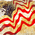 Abstract Usa Flag by Stefano Senise