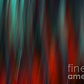 Abstract Vertical Red Green Blur by Marvin Spates