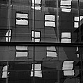 Abstract Window Reflections - Nyc Bw by Dave Gordon