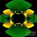 Abstracta-green-gold A by Dr Roy Schneemann