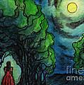 Ac224 Girl Under Full Moon by Kirohan Art