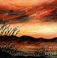 Ac229 Sunset Over Desert