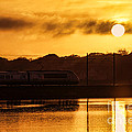 Acela Sunset by Joe Geraci