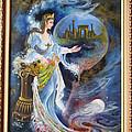 Achaemenian Lady Persian Miniature Painting  by Persian Art