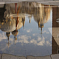 Acqua Alta Or High Water Reflects St Mark's Cathedral In Venice by Georgia Mizuleva