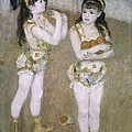 Acrobats At The Cirque Fernand by Pierre Auguste Renoir