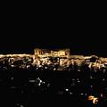 Acropolis At Darkest Night by Lorraine Devon Wilke