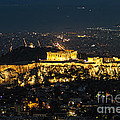 Acropolis At Night by Paul and Helen Woodford