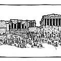 Acropolis Of Athens by Calvin Durham