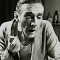 Actor Clifton Webb Applying Make-up by Lusha Nelson