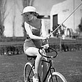 Actress Plays Bike Polo by Underwood Archives