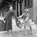 Actresses On Roller Skates by Underwood Archives