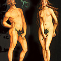 Adam Eve And The Serpent by Hans Baldung