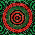 Adinkra Disk Pan-african II by Adinke Inc