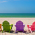Adirondack Beach Chairs For A Summer Vacation In The Shell Sand  by ELITE IMAGE photography By Chad McDermott