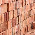 Adobe Bricks Drying In The Sun by Robert Hamm