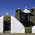 Adobe Church Taos by Sally Weigand
