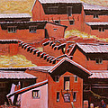 Adobe Village - Peru Impression II by Xueling Zou