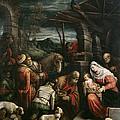 Adoration Of The Magi by Francesco Bassano