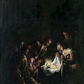 Adoration Of The Shepherds by Jacopo Bassano