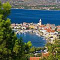Adriatic Town Of Vinjerac Aerial View by Brch Photography