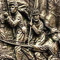 Advancing The Colors - State Of Delaware Monument Gettysburg Detail-a Autumn Mid-day by Michael Mazaika