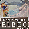 Advertisement For Champagne Delbeck by Louis Chalon