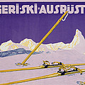Advertisement for skiing in Austria by Carl Kunst