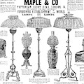 Advertisement Lamps, 1890 by Granger