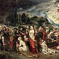 Aeneas And His Family Departing From Troy by Peter Paul Rubens