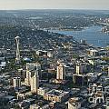 Aerial Image Of The Seattle Skyline  by Jim Corwin