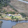 Aerial Jekyll Island Area by Betsy Knapp