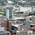 Aerial Of Downtown Wichita by Bill Cobb