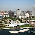 Aerial Of Milwaukee Skyline by Bill Cobb