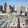 Aerial Of The Houston Skyline by Bill Cobb