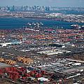 Aerial Over Newark And New Yourk by Alex Grichenko