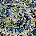 Aerial Pattern Of Residential Homes by Panoramic Images