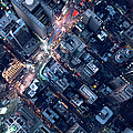 Aerial Photography Of Times Square, Ny by Michael H