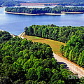 Aerial Summersville Dam And Lake by Thomas R Fletcher