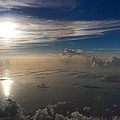 Aerial Sunrise Over Florida Keys by Kimberly Blom-Roemer