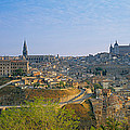 Aerial View Of A City, Toledo, Spain by Panoramic Images