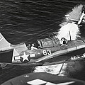 Aerial View Of A Curtiss Helldiver by Everett
