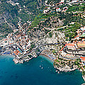Aerial View Of A Town, Atrani, Amalfi by Panoramic Images