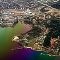 Aerial View Of Bay. Rainbow Earth by Jenny Rainbow