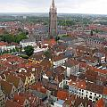 Aerial View Of Bruges Belgium by Jason O Watson