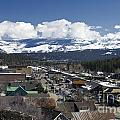 Aerial View Of Historic Downtown Truckee California by Jason O Watson