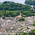Aerial View Of Keswick In The Lake District Cumbria by Louise Heusinkveld