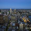 Aerial View Of Melbourne At Night by Jason O Watson