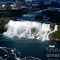 Aerial View Of Niagara Falls And River And Maid Of The Mist by Rose Santuci-Sofranko