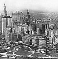 Aerial View Of Nyc Battery by Underwood Archives